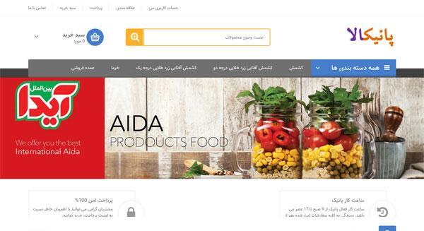 طراحی سایت فروشگاهی پانیکالا